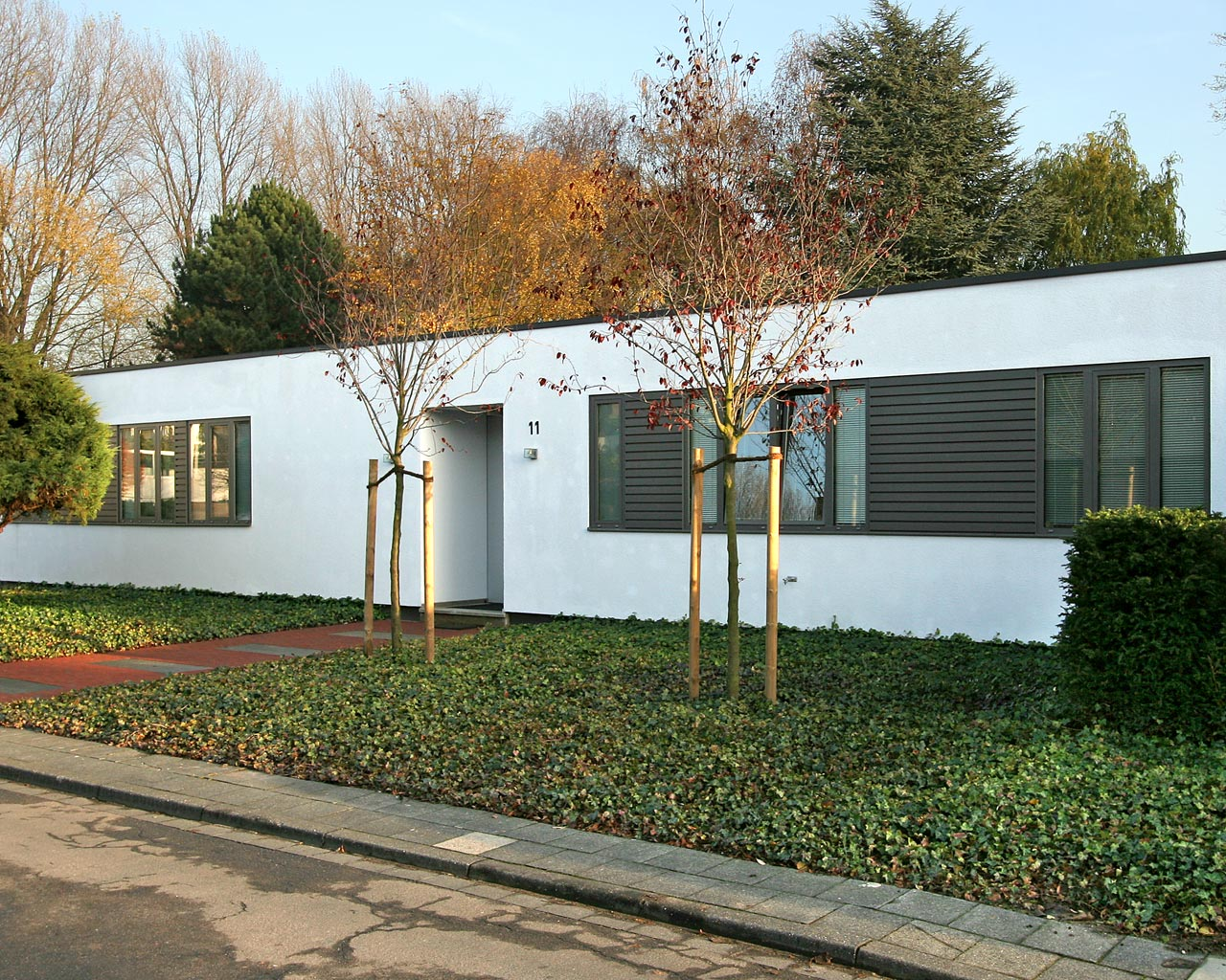 Fassade Bungalow architekturbüro angelika hülser stöhr neubau und umbau mit